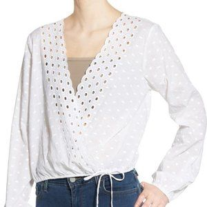 BP. Eyelet Lace Cotton Top